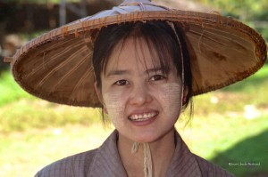 Jeune fille de Myanmar