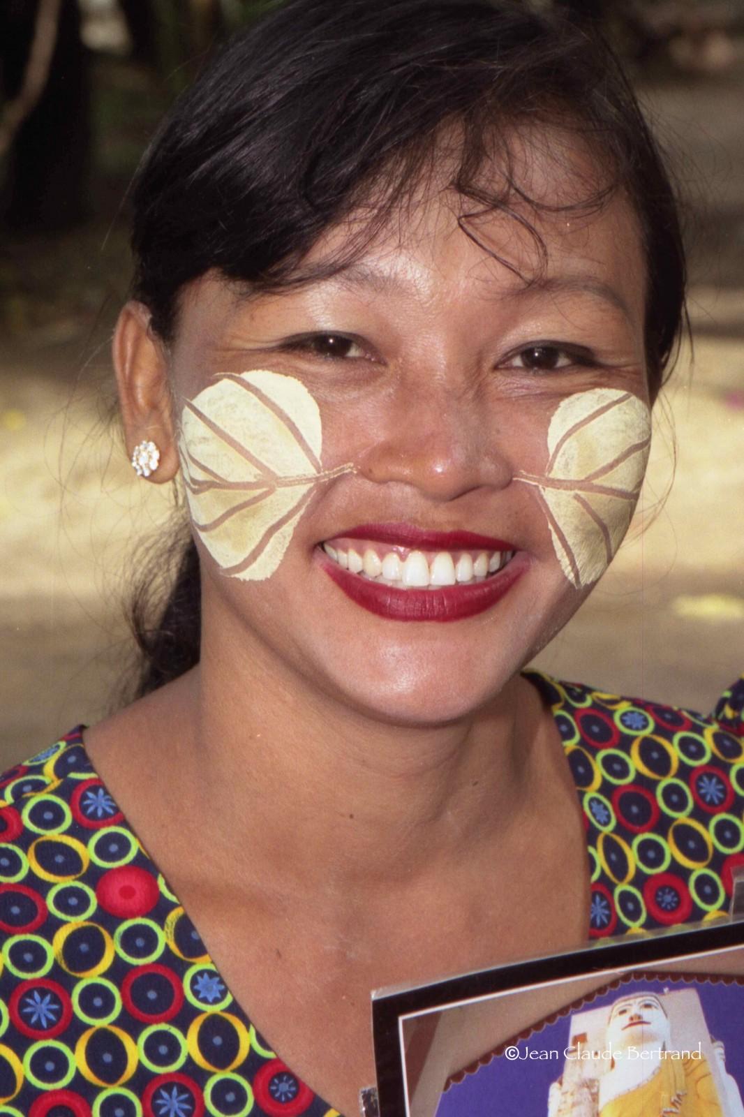 Jeune femme de Myanmar